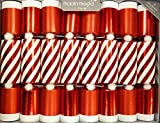 """8 X 10"""" English Christmas Crackers By Robin Reed - Candy Stripe with snow balls"""