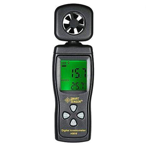 Mini Anemómetro Medidor de Velocidad del Viento Medición de la Temperatura de la Velocidad del Aire
