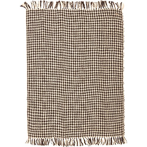 VHC Brands Rustic & Lodge Pillows & Throws - Carrington Brown Acrylic Woven Throw, 70