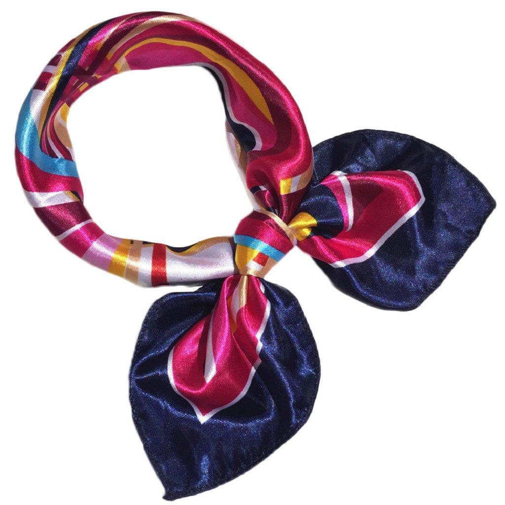 DAEDALUS Damen Nachgeahmte Seide Kopft/ücher Quadratisch Schals Satin Stewardess Kopftuch