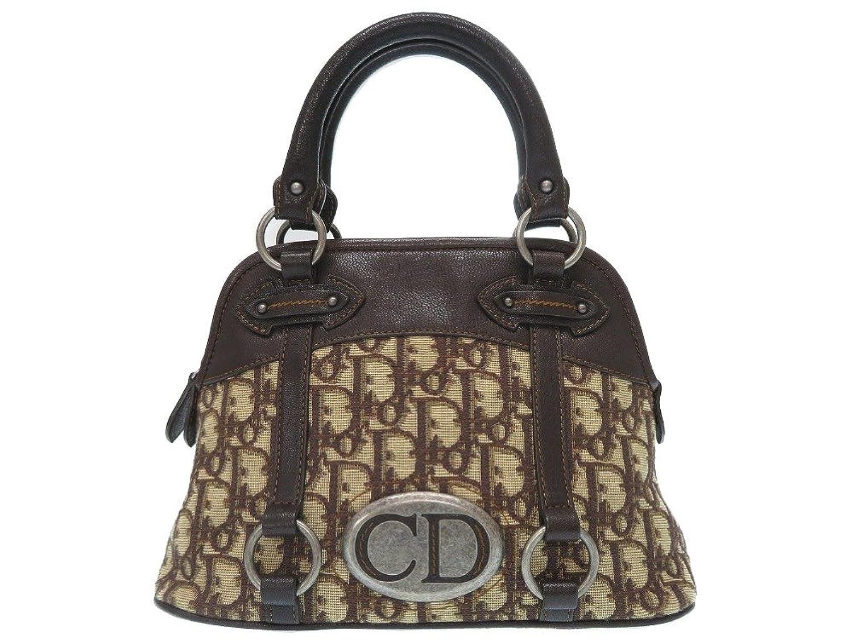 (クリスチャンディオール) Christian Dior トロッター ヴィンテ―ジ ハンドバッグ キャンバス レディース 0549 中古 B07DCR8SBC