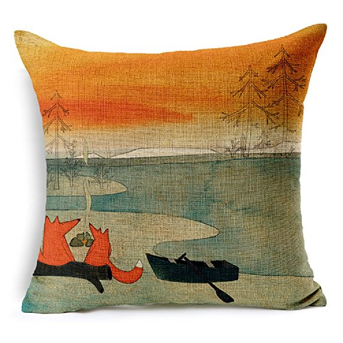 Decorative Animal Cotton Cushion Pillowcase