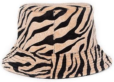 Docila Two Side Zebra Hats For Adult Furry Fur Outdoor Streetwear Bucket Cap Designer Travel Headwear Accessories Khaki At Amazon Men S Clothing Store