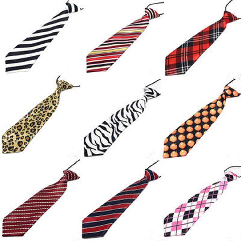 EONGERS Boys Mixed Pattern Pre-Tied Elastic Little Boys Fashion Necktie