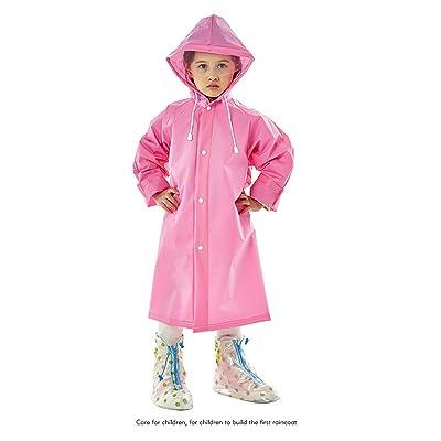 Boy Girl Child Raincoat bonbons Couleurs Longue Section Transparent Student Big Child Child Transparent Big Hat Poncho Veste imperméable ( couleur : N ° 4 , taille : L )