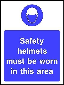 60 CMX40 CM cascos de seguridad debe llevarse (plástico señal): Amazon.es: Hogar