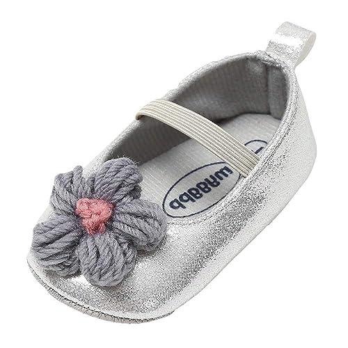 Mitlfuny Invierno Otoño Unisex Princesa Primeros Pasos Zapatos de Cuero para Bebé Zapatillas Tejido de Lana Flores Calzado Niños Niñas Elástico Cordones ...
