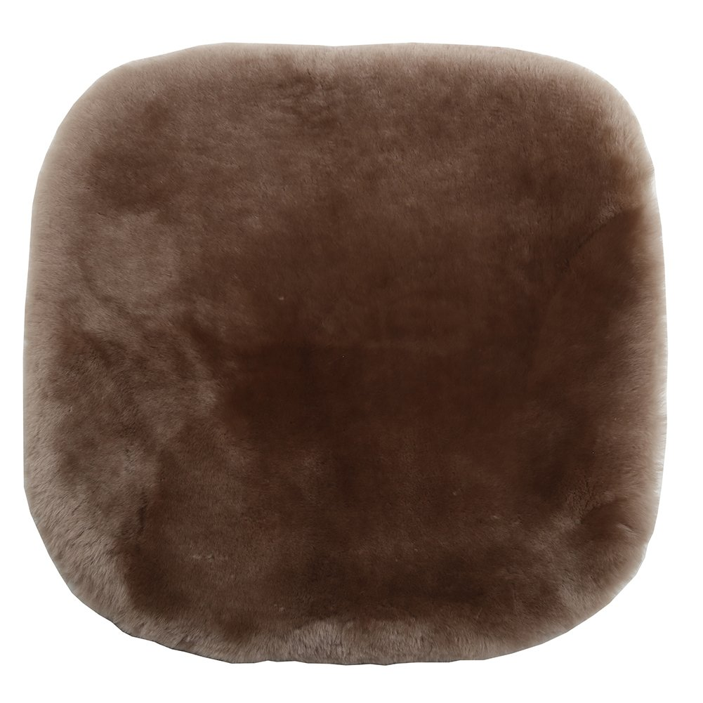 Soft Luxurious Wool Seat Cushion Pad Winter Mat Universal Fit Comfort in Auto U/&M Authentic Sheepskin Car Interior Seat Cover Office Home Plane ,Black 19.3 Inch X 19.3 Inch