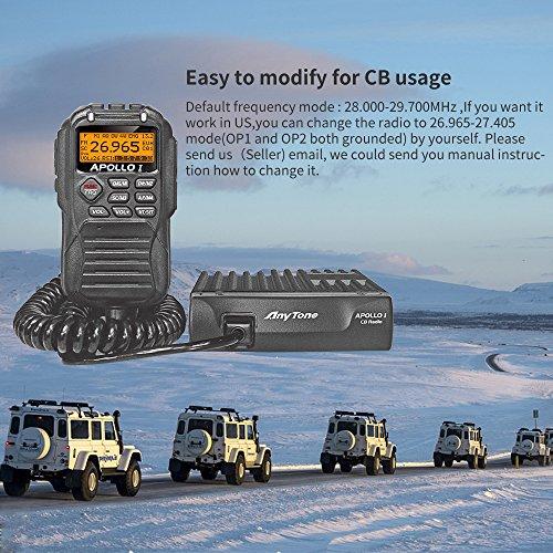 [해외]AnyTone APOLLO I 10 미터 라디오는 11 미터 CB 라디오 키트 40 트럭으로 변환 할 수 있습니다/AnyTone APOLLO I 10 Meter Radio can convert into 11 meter CB Radio Kit 40 Channel for truck