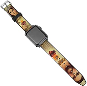 Christian JES-us and Vi-rgin Ma-ry Leather Band for Apple Watch Bands 38mm 40mm 42mm 44mm Watch Strap Replacement Wrist Band for iWatch Series 5 4 3 2 1
