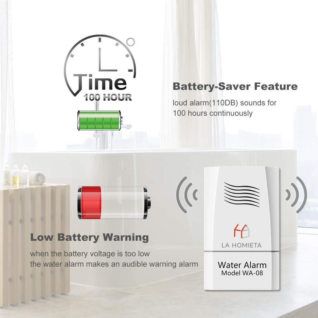 Amazon.com: LA Homieta WA08 Alarma acuática y sensor ...