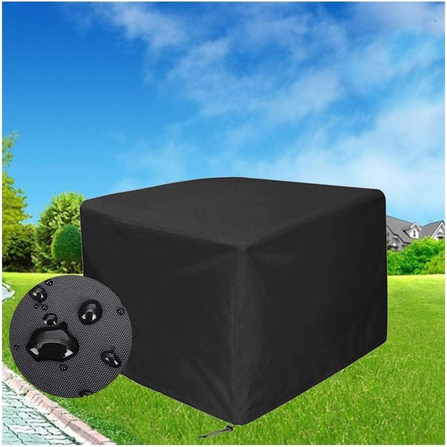 WHAIYAN ガーデン家具カバー矩形アウトドアテーブルと椅子保護ケース防水通気性オックスフォード布、黒、32サイズ (Color : Black, Size : 250×250×90cm)