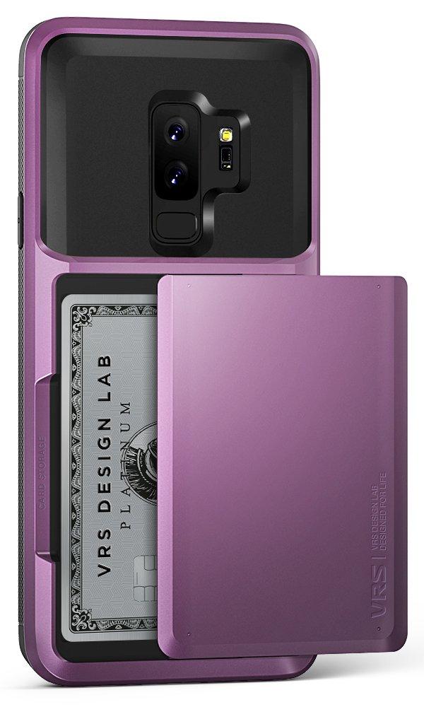 VRS Design Damda Glide Wallet Card Holder Case for Samsung Galaxy S9 Plus Ultra Violet