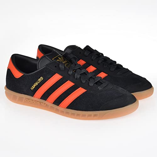 Adidas Hamburg (Core Black Core Orange Gum) (US 9.0 EU
