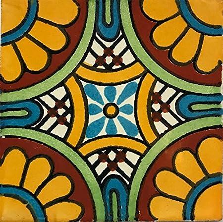 Amazon Com Autentica Pintura A Mano Mexicana Talavera Azulejos