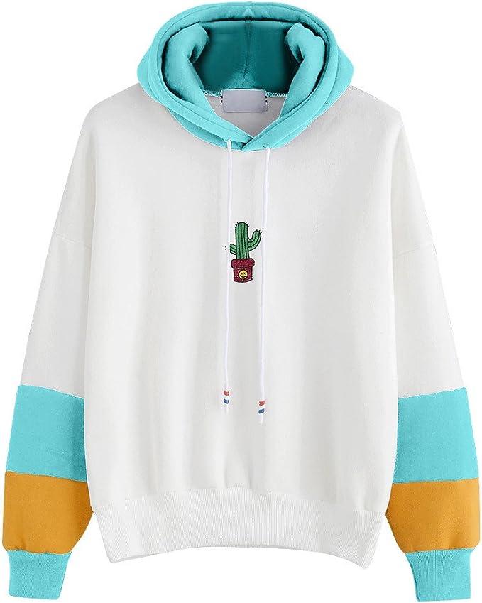 Popolare Regalo per Il Tuo Moglie e Fidanzata//Multicolore Felpe Donna Tumblr Corte con Cappuccio Felpa Pullover Hoodie Sportivi Abbigliamento Caldo da Autunno e Inverno Maglione S-XL