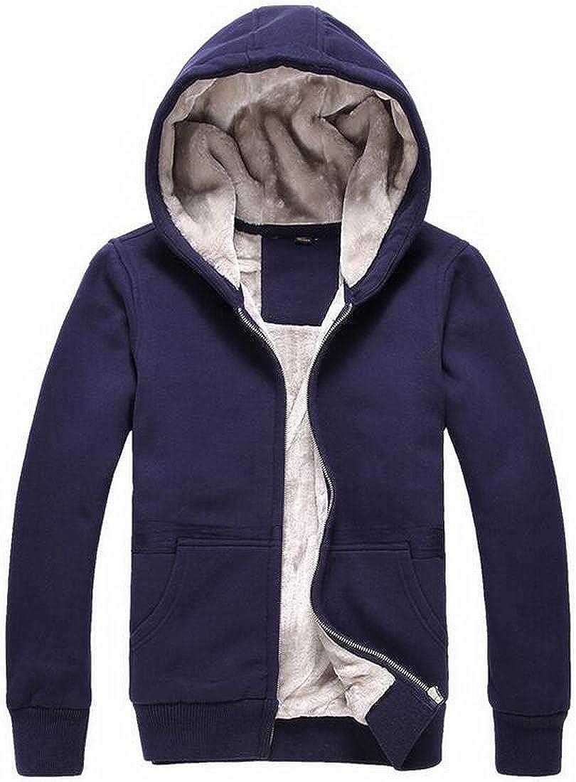 Bravepe Women Comfy Solid Color Hooded Fleece Winter Warm Loose Hoodie Pullover Sweatshirt