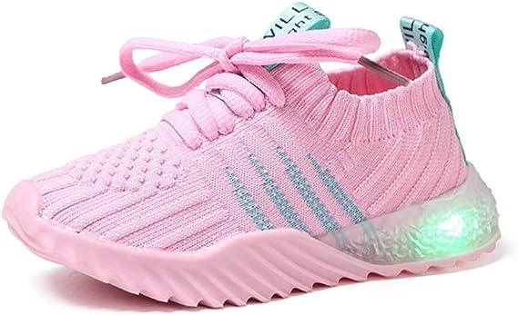 Geilisungren Zapatos para Bebé Zapatillas de Deporte Luminosas con luz LED de Deporte Casuales Malla Zapatillas de Deporte Zapatos para niños niñas bebé Zapatillas Respirable: Amazon.es: Ropa y accesorios