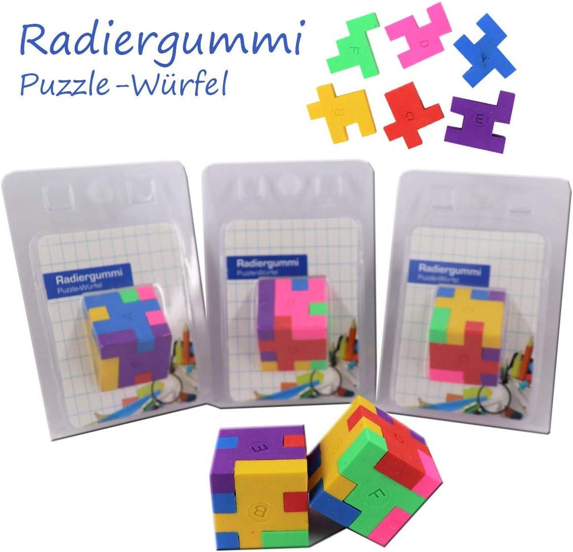 Radiergummis Radierer Puzzle Radiergummi bunt