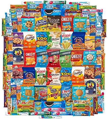 Crunch n Munch Ultimate Care Package Assortment Gift Box by Variety Fun (100 Count) For Sale