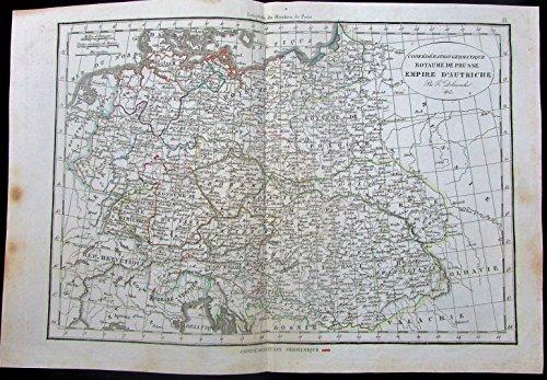 Austrian Empire Poland Germany Hungary Prussia 1825 scarce Delamarche old (Delamarche Map)