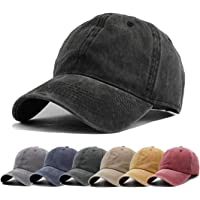 8c498cd81dadd Aedvoouer Men Women Baseball Cap Vintage Cotton Washed Distressed Hats  Twill Plain Adjustable Dad-Hat