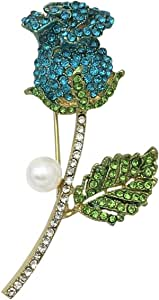 Earofcorn Exquisite Design Rose Flowers Brooches Women Clothing Accessories Boutonniere Gift