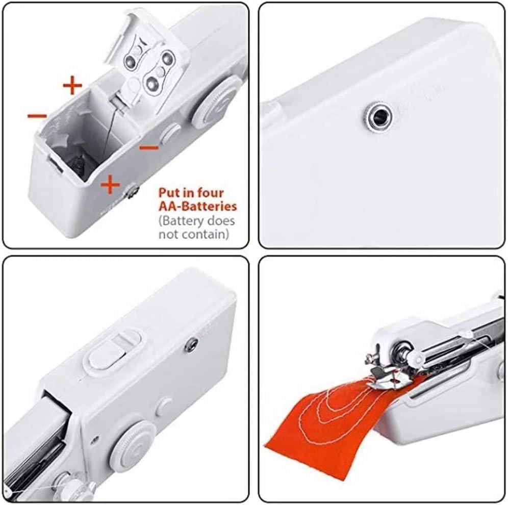 DIY Vorhang PowerLife Mini N/ähmaschine Handn/ähmaschine Tragbare Elektrische Handheld N/ähmaschinen Schnelle N/äharbeiten Geeignet f/ür DIY Kleidung Baumwollstoff