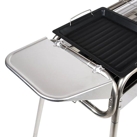 Amazon.com: Parrilla de carbón para asado plegable y ...