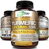 Premium Turmeric Curcumin (120 CAPSULES) with BioPerine Black Pepper, 1300mg Turmeric Capsules with 95% Standardized Curcuminoids - Highest Potency Pain Relief, Joint Support, Non GMO, Gluten Free