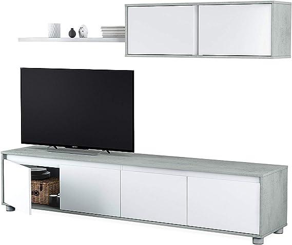 Mueble de salón Moderno, Medidas: 43 cm de Altura x 200 cm de ...