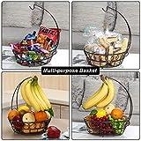 TQVAI Countertop Fruit Basket with Banana Hanger