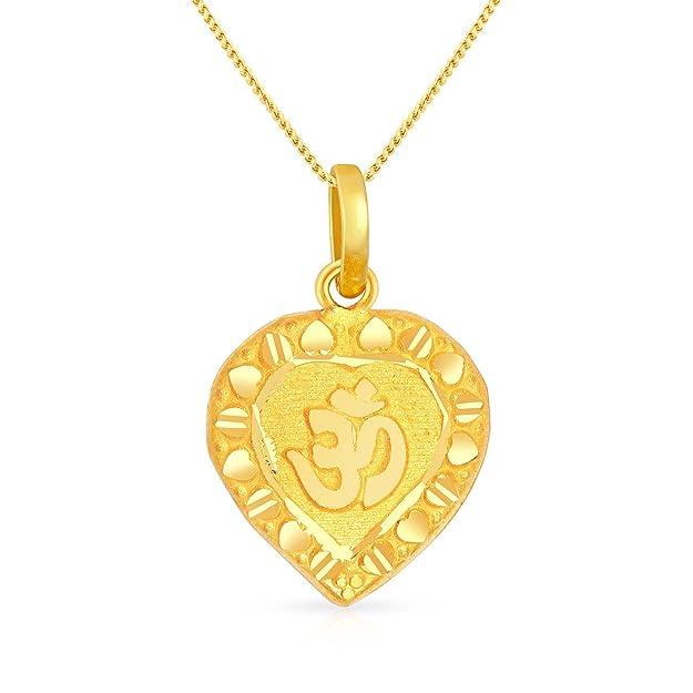 Malabar Gold  amp; Diamonds 22KT Yellow Gold Pendant for Women