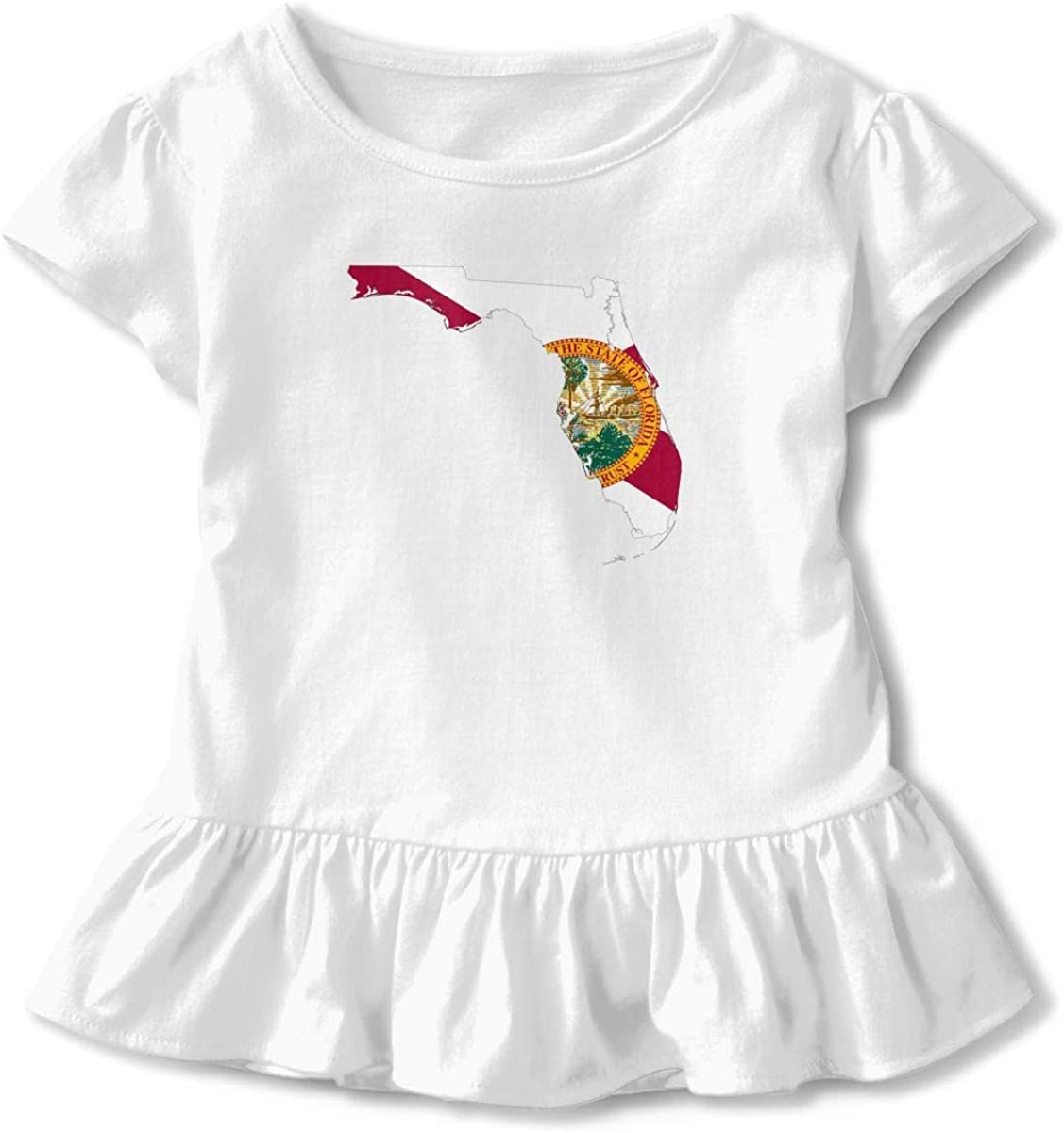 Toddler Baby Girl Firefighter Red Line Flag Funny Short Sleeve Cotton T Shirts Basic Tops Tee Clothes