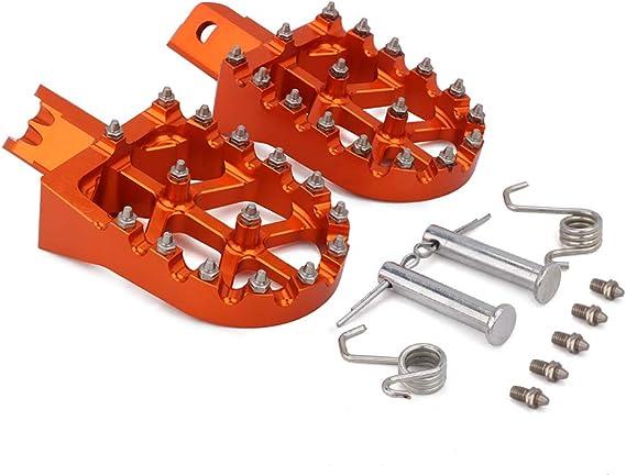 Footpeg - Piqueta de pasajero para motocicleta Honda CRF XR 50 70 110 Pit Bike M2R Lucky MX Thumpstar Explore la mayoría de las Pit Bikes chinas, color naranja