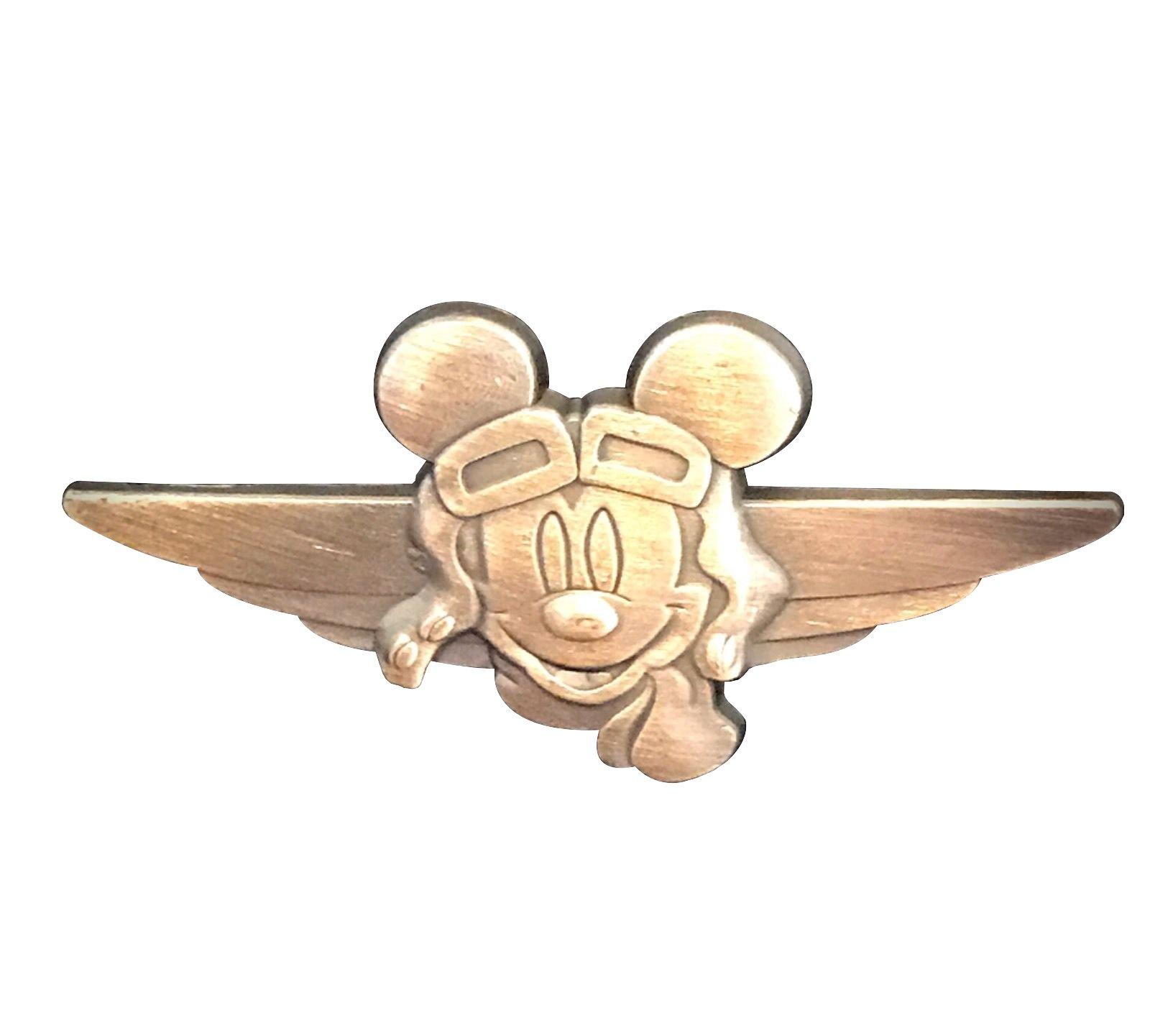Disney Pin Aviator Mickey Mouse - Bronze-Style *Pilot* Wings