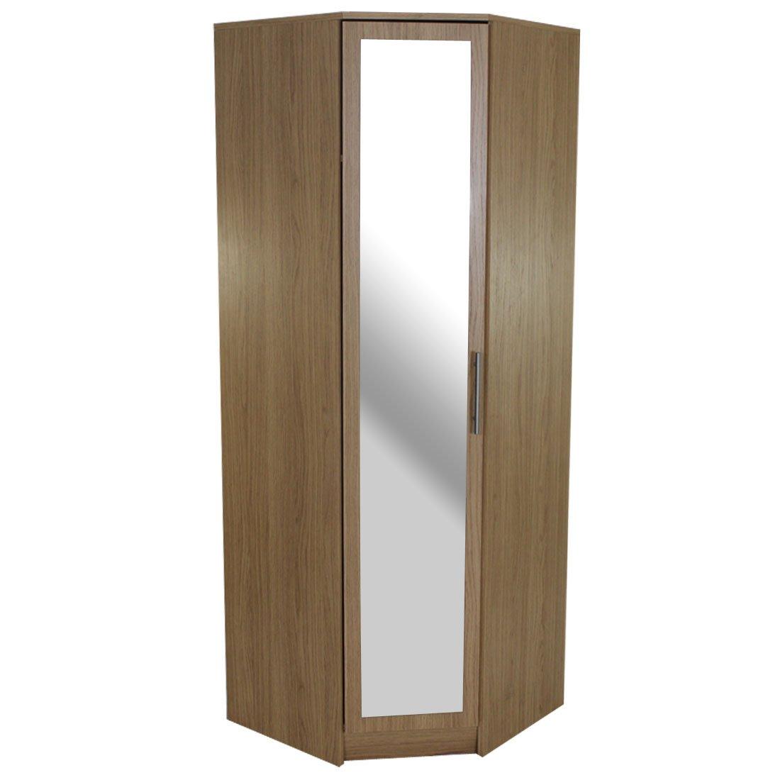 Devoted2Home Humber Bedroom Furniture with 1-Door Mirrored Corner ...