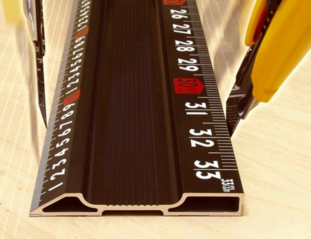 Amazon | シンワ測定 アルミカッター定規 スーパーアル助 カット師EX 1.5m 65034 | DIY・工具・ガーデン