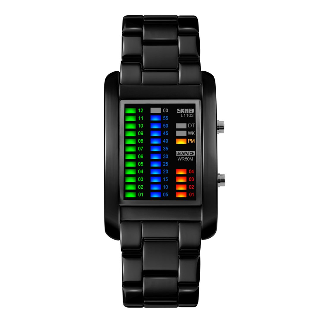Leather pu stylish band led wrist watch recommend dress in winter in 2019