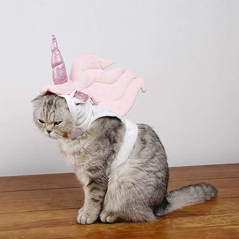 POPETPOP Disfraz de Gato para Gatos Solo: Disfraz de Unicornio ...