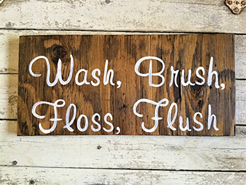 Amazon Hand Painted Rustic Bathroom Art Wall Signs Home Decor Adorable Hand Painted Wood Signs Home Decor