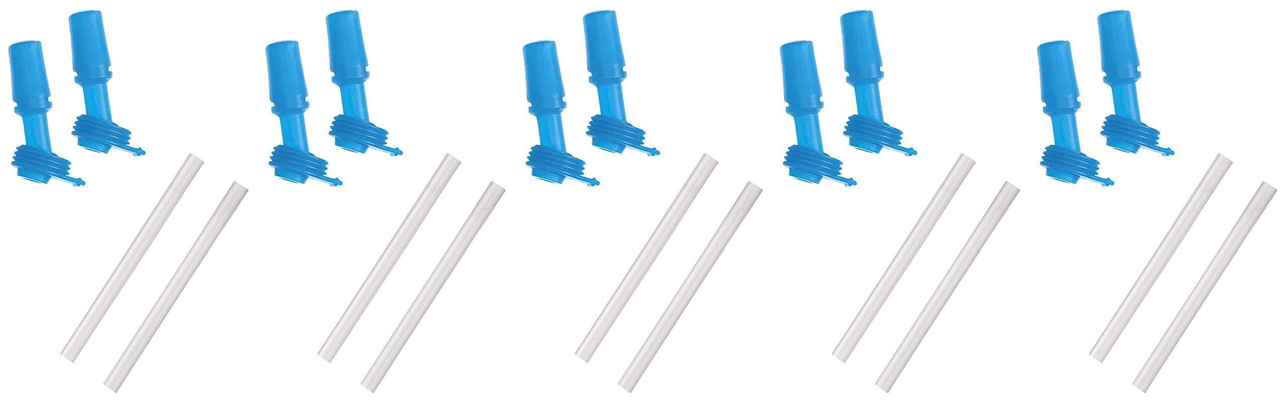 CamelBak Eddy Kids Bottle Accessory 2 Bite Valves/2 Straws, One Size, Ice Blue (5 Pack)
