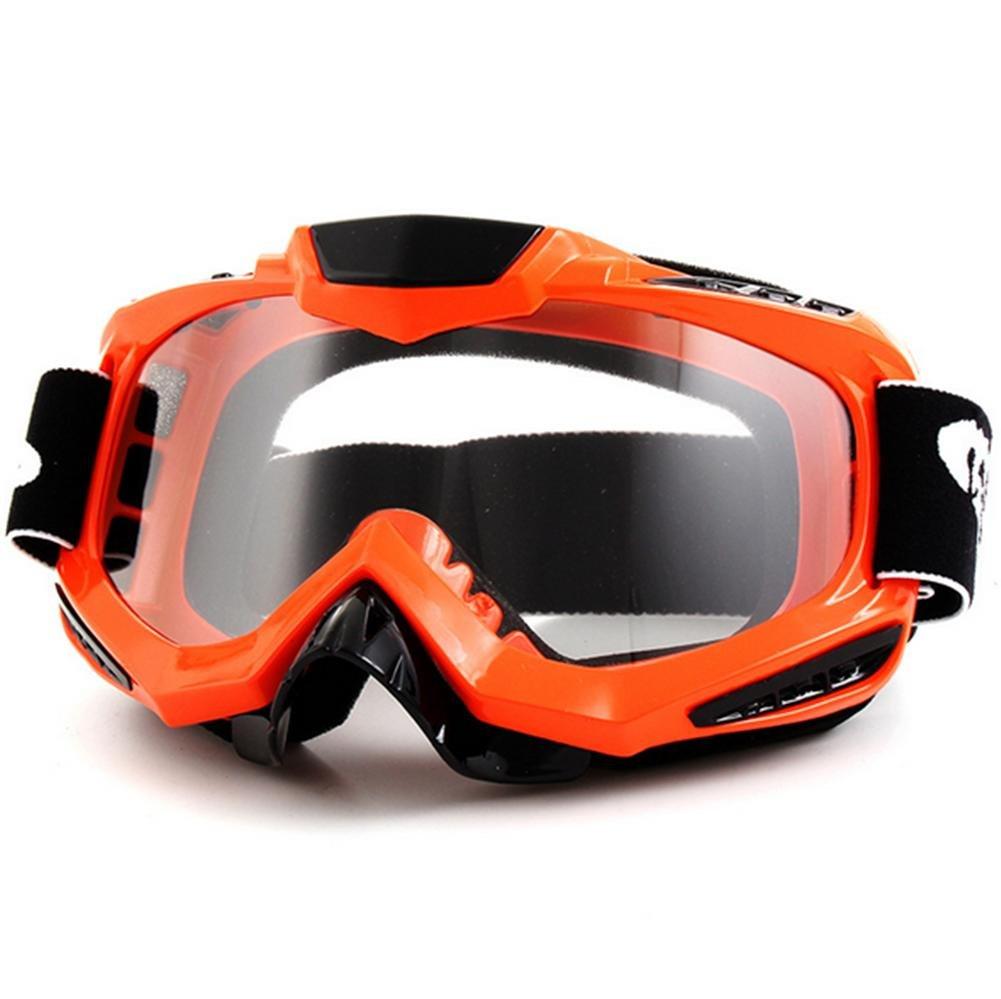 DZW Offroad - Reiten Brille Straßenmotorräder Gläser aus Ski - Brille , Orange