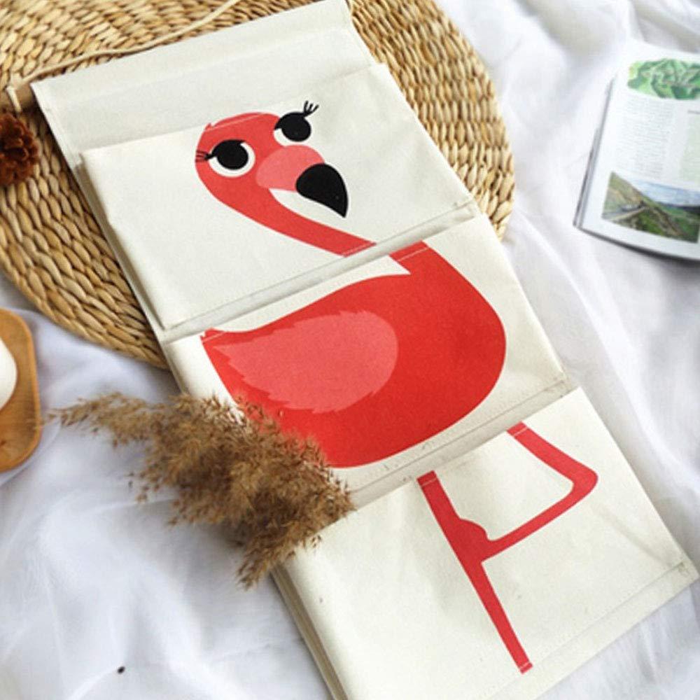Rot, Flamingo Keleily Wandbehang Aufbewahrungstasche Baumwollgewebe T/ür Closet Organizer mit Taschen wasserdichte Closet Organizer