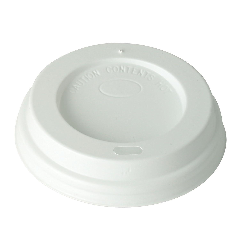 Tapa desechable para café con orificio para beber, 100 unidades: Amazon.es: Hogar