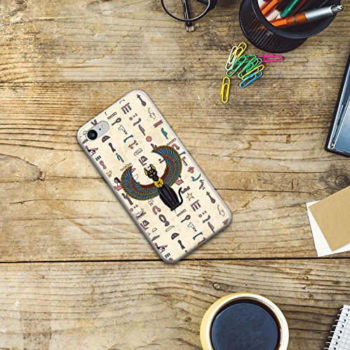 iPhone 8 Hülle, WoowCase Handyhülle Silikon für [ iPhone 8 ] Ägiptische Katze Handytasche Handy Cover Case Schutzhülle Flexible TPU - Transparent