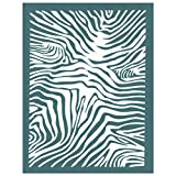 DIY Silk Screen Printing Stencil, Ready To Use Zebra Animal Pattern Design, for Fabric, Wood, Ceramic, T-Shirts, and more!