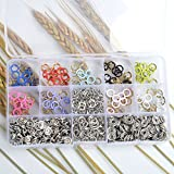 in Storage Box 150 Sets 10 Colours 9.5mm Metal Prong Ring Snap Fasteners Press Studs For bandana bibs, baby grows, keyrings ,Dummy Clips by ifsecond