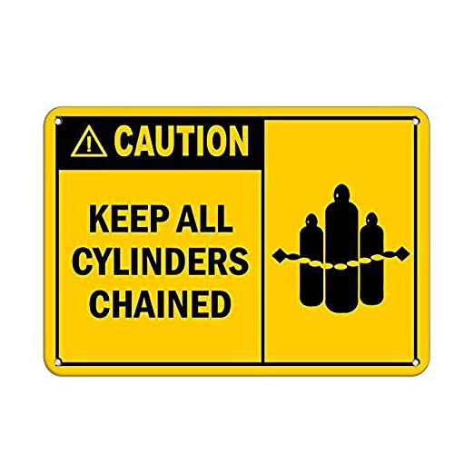 Tarfy Caution Keep All Cylinders Chained Style 3 Flammable ...