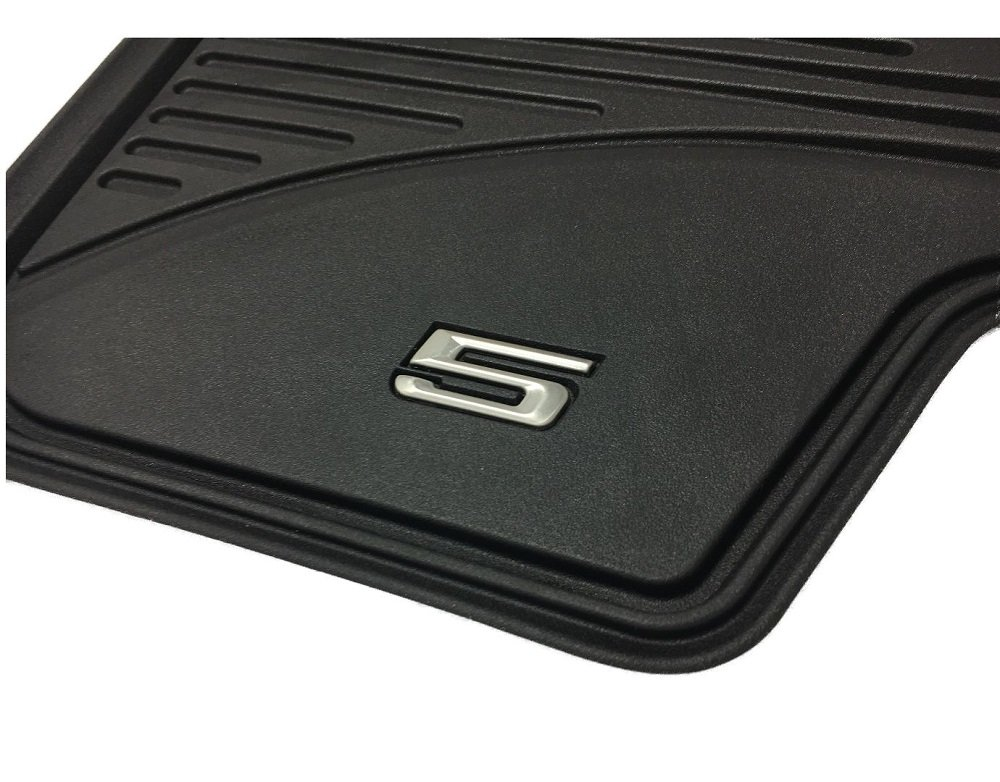 per tutte le stagioni tappetini posteriori LHD per serie 5 G30 Limousine // G31 Touring BMW Tappetini originali di gomma